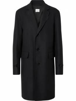 Burberry однобортное пальто строгого кроя 8036195