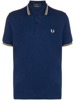 Fred Perry рубашка поло из пике с вышитым логотипом M12