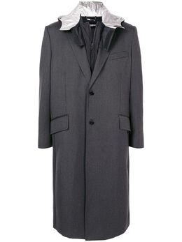 Dolce&Gabbana многослойное пальто миди с капюшоном G020PTFU21D