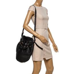 Alexander Wang Black Textured Leather Diego Bucket Bag 338347