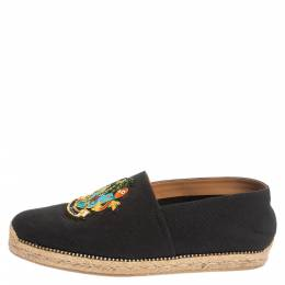 Christian Louboutin Dark Blue Canvas Cario Loubi Flat Olona Espadrilles Sneakers Size 40 340344