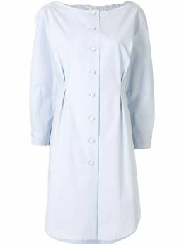 Delpozo платье-рубашка со сборками 4200622003