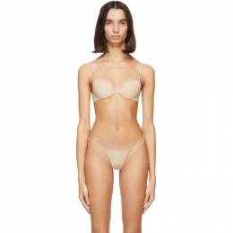 La Perla Beige Padded Push-Up Second Skin Bra 003354