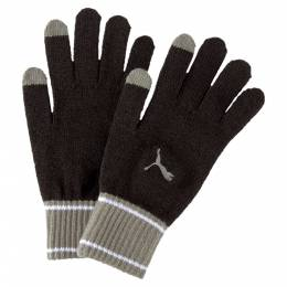 Puma - Перчатки PUMA Knit Gloves – Puma Black-Ultra Gray – S 4062453782199