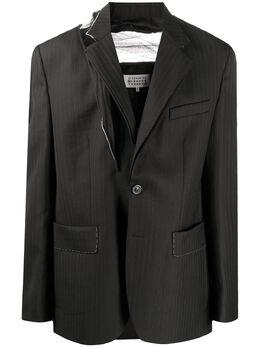 Maison Margiela пиджак с тюлем S67BN0024S53232
