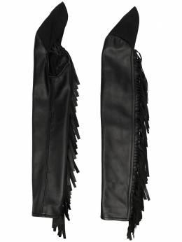 Mm6 Maison Margiela длинные перчатки с бахромой S62TI0026SY1498