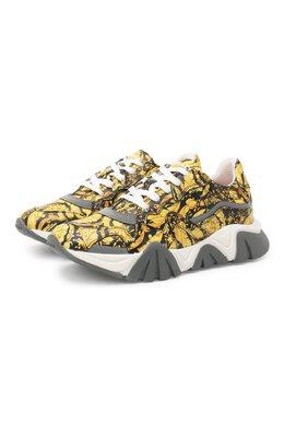 Кожаные кроссовки Versace YHX00029/YB00376/34-40