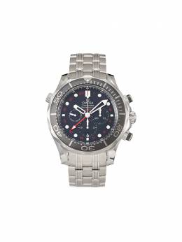Omega наручные часы Seamaster Diver 300m Co-Axial GMT Chronograph pre-owned 44 мм 2020-го года 21230445201001