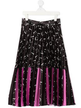 Gaelle Paris Kids плиссированная юбка с принтом 2741G0170