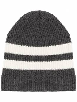 Cashmere In Love полосатая шапка бини в рубчик BIA
