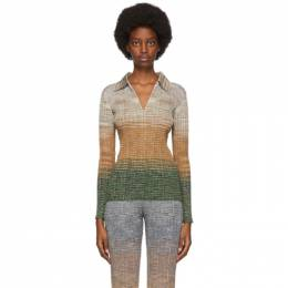 Missoni Gold and Green Lame Polo MDN00364BK00MN