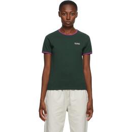 Stussy Green Contrast Binding T-Shirt 214547