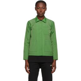 Stussy Green Chore Shirt Jacket 211192