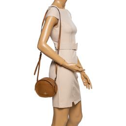 Coach Tan Leather Round Crossbody Bag 339851