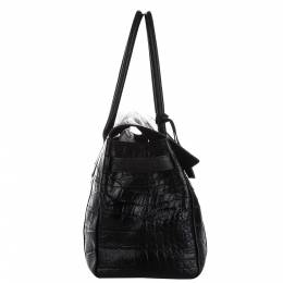 Mulberry Black Embossed Leather Bayswater Bag 338315