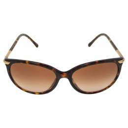 Burberry Brown Havana/ Brown Gradient B4186 Cat Eye Sunglasses 339302