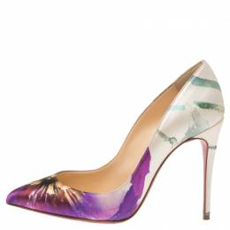 Christian Louboutin Multicolor Floral Printed Canvas Pointed Toe So Kate Pumps Size 37 341049