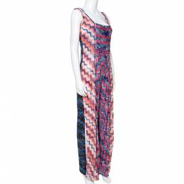 Missoni Mare Lurex Knit Frayed Edge Detail Cover-Up Jumpsuit M 336162