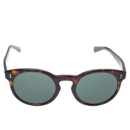 Valentino Havana/Smoke Green VA4009 Round Sunglasses 335953