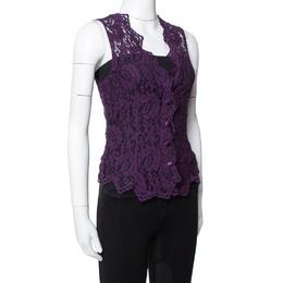 Dolce&Gabbana Purple Lace Sleeveless Vest M 335884