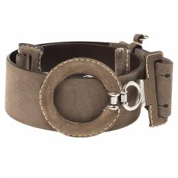 Gianfranco Ferre Brown Suede Wide Belt Size 85 CM 340918