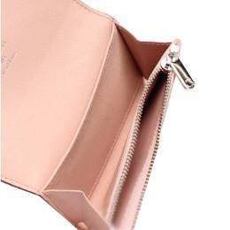 Louis Vuitton Pink Leather Mahina Anae Coin Wallet 334301