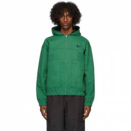 Stussy Green Canvas Work Jacket 215135