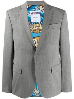 Moschino однобортный пиджак A05105243