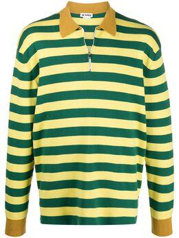 Sunnei полосатая рубашка поло с длинными рукавами PO01