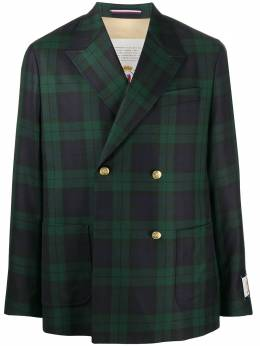 Tommy Hilfiger plaid-check double breasted blazer RE0RE00691000