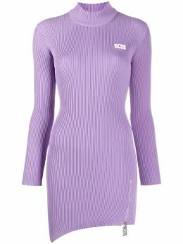 GCDS платье в рубчик с асимметричным подолом CC94W020301