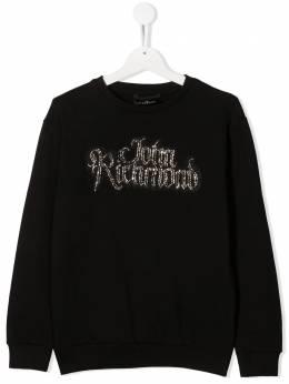 John Richmond Junior TEEN crystal-logo sweatshirt RGA20323FEXX