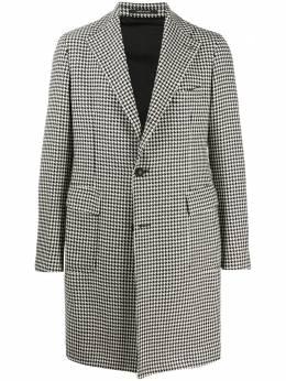 Tagliatore однобортное пальто в ломаную клетку 07FIC252CPLM3W