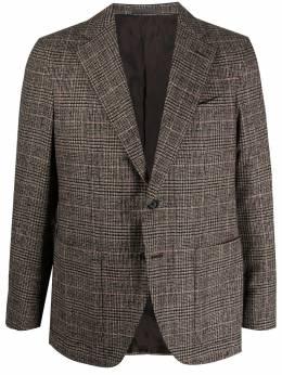 Caruso plaid single-breasted blazer 505649