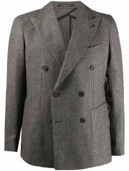 Tagliatore checked double-breasted wool blazer 1SMC20K12FIZ275