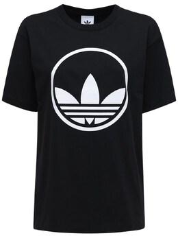 Футболка Circle Trefoil Adidas Originals 72IGZU043-QkxBQ0s1