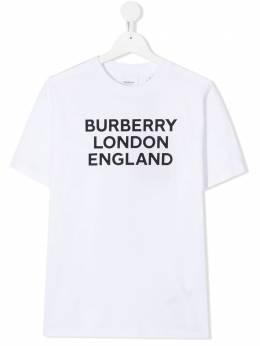 Burberry Kids футболка с логотипом 8028811