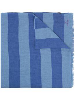 Paul Smith полосатый шарф с вышитым логотипом M2A359FES27