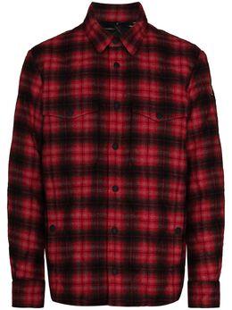 Moncler Grenoble стеганая куртка-рубашка в клетку F20971B5120054AEH