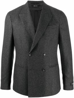 Z Zegna check double-breasted blazer 8507631GS4G0