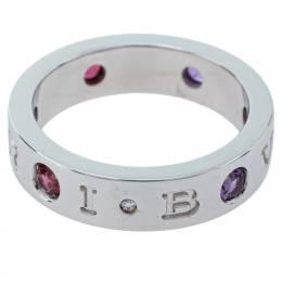 Bvlgari BVLGARI BVLGARI Diamond Amethyst Tourmaline 18K White Gold Ring Size 54 362568