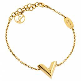 Louis Vuitton Essential V Gold Tone Bracelet 339266