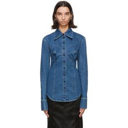 Kwaidan Editions Blue Denim Bustier Shirt AW20WT056W_WCD