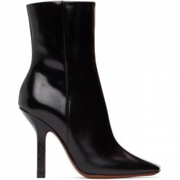 Vetements Black Boomerang High Heel Ankle Boots WAH21BO201