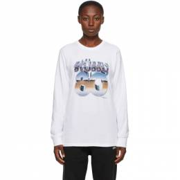 Stussy White 80 Chrome Long Sleeve T-Shirt 1994595