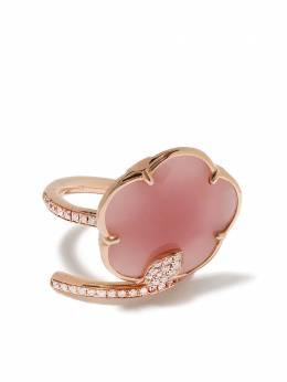 Pasquale Bruni кольцо Figlia Dei Fiori из розового золота с розовым кварцем и бриллиантами 15946R