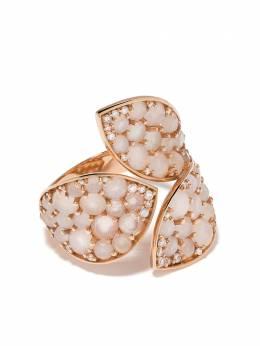 Pasquale Bruni кольцо Lakshmi из розового золота с бриллиантами и лунным камнем 15998R