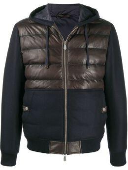 Eleventy куртка с капюшоном и контрастной вставкой B75GBTB21PEL0B006