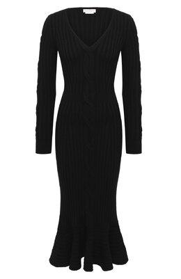 Шерстяное платье Alexander McQueen 633684/Q1AQH
