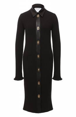 Платье из шерсти и хлопка Bottega Veneta 629363/VKVX0